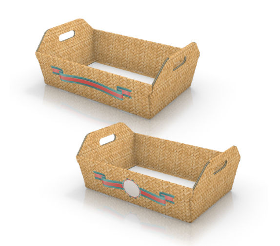 geschenkekorb bedruckt online drucken die. Black Bedroom Furniture Sets. Home Design Ideas